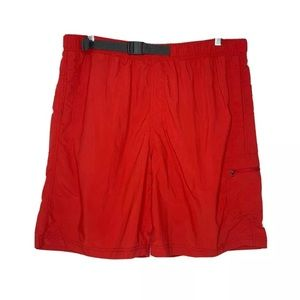 Columbia mens XL swim trunks Shorts omni-shade red